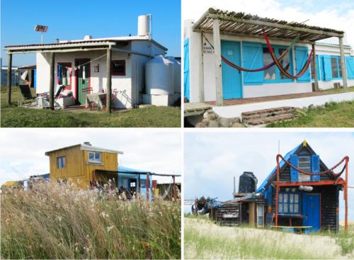 Cabanas e casinhas coloridas - marca registrada de Cabo Polônio