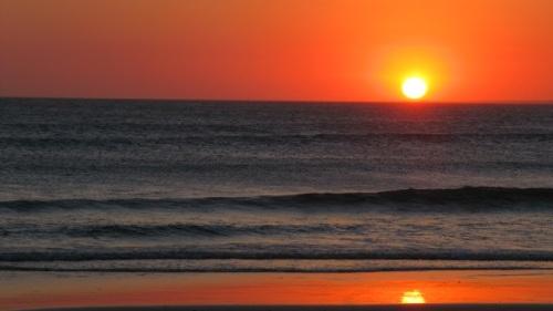 Pôr do sol em Cabo Polônio.